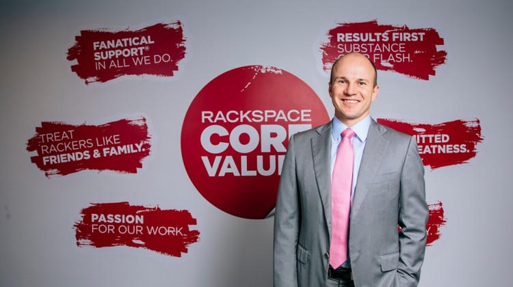Angus Dorney, director and general manager of Rackspace Australia, says values are the heart and soul of the company's success